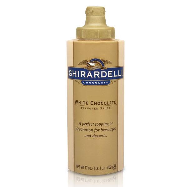 Ghirardelli 61284 17 oz White Chocolate Flavored Sauce, S...