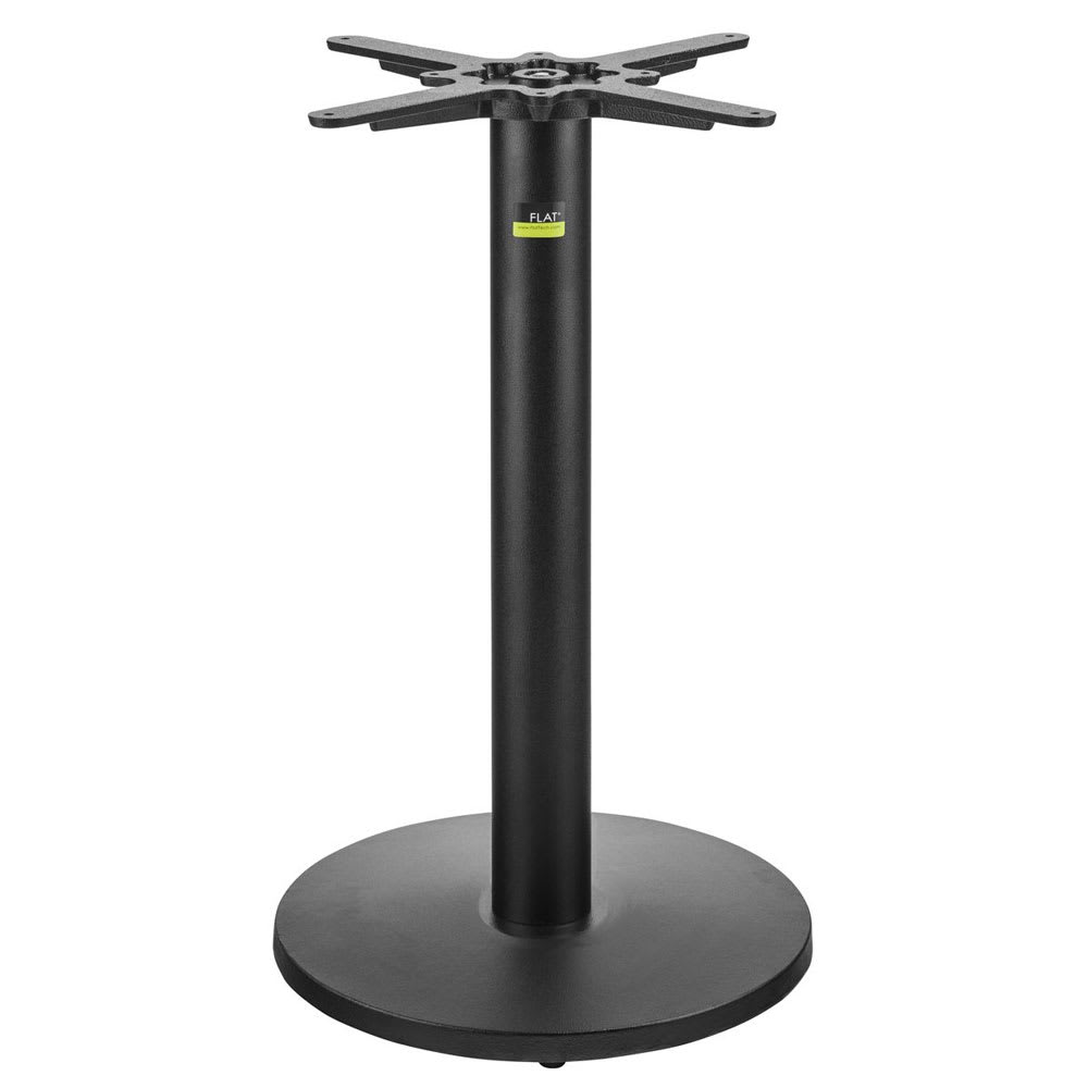 """Coffee Height Square Small Table Base Round: Flat Tech CT3006 28.35"""" Dining Height Table Base For 24"""