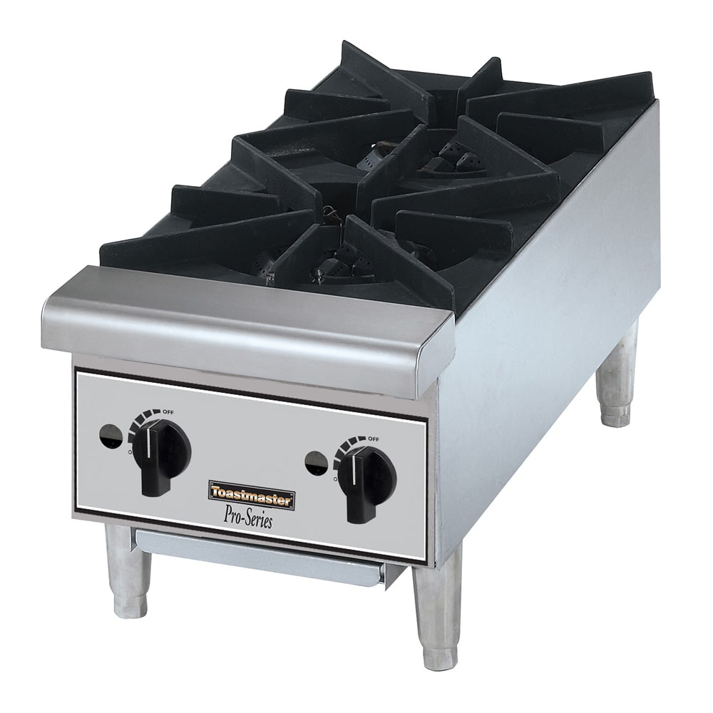 Toastmaster TMHP2 12 Gas Hotplate w/ (2) Burners & Manual...