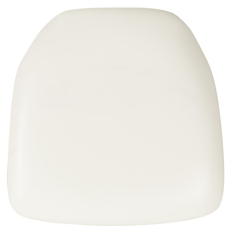 Flash Furniture BH-WH-HARD-VYL-GG Hard White Vinyl Chiavari Chair Cushion