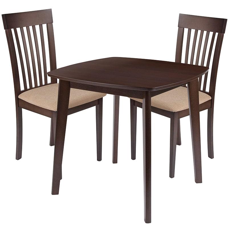 FLASH Furniture ES-69-GG 3 Piece Windsor Wood Dining Tabl...