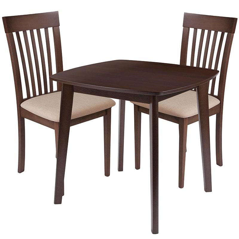 FLASH Furniture ES-83-GG 3 Piece Windsor Wood Dining Tabl...