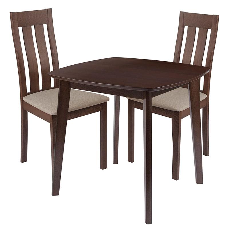 FLASH Furniture ES-84-GG 3 Piece Waterbury Wood Dining Ta...