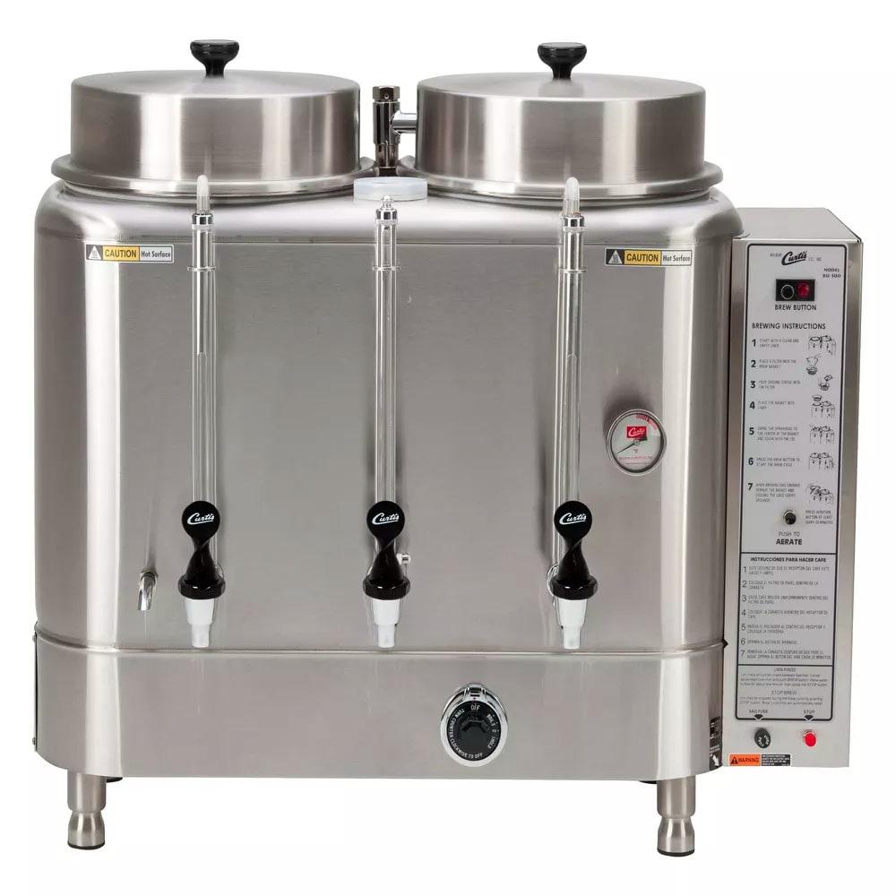 Curtis RU-1000-35 Double Coffee Brewer w/ 10-gal Urns & O...