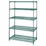 "Metro 5A357K3 Super Erecta® Epoxy Coated Wire Shelf Kit - 48""W x 18""D x 74""H"