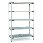 "Metro 5X367GX3 MetroMax i® Polymer Louvered Shelf Kit - 60""W x 18""D x 74""H"