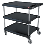 Metro MY2030-34BL 2-Level Polymer Utility Cart w/ 300-lb Capacity, Marine Ledges