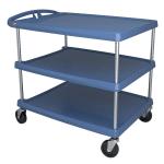 Metro MY2636-35BU 2-Level Polymer Utility Cart w/ 300-lb Capacity, Marine Ledges