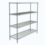 "Metro N366C Super Erecta® Chrome Wire Shelf Kit - 60""W x 18""D x 63""H"