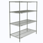 "Metro N456C Super Erecta® Chrome Wire Shelving Unit w/ (4) Levels, 48"" x 21"" x 63"""