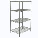 "Metro N536C Super Erecta® Chrome Wire Shelf Kit - 36""W x 24""D x 63""H"