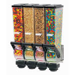 Server 88780 Dry Product Dispenser, Quadruple, (4) 2 Liter, Wall Mount