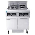 Frymaster FPRE217 Electric Fryer - (2) 50 lb Vat, Floor Model, 208v/3ph