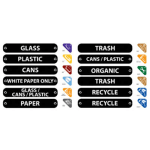 Rubbermaid 1792975 Recycle Station Label Kit