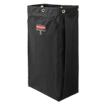 Rubbermaid 1966888 30-gal Bag for Housekeeping Cart - Canvas w/ Vinyl Lining, Black