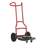 Rubbermaid 1997801 Multi-Surface Dolly for 20, 32, 44, & 55-gal BRUTE® Containers - Steel, Red
