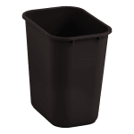 Rubbermaid 2018376 28 qt Rectangle Waste Basket - Plastic, Brown