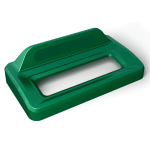 Rubbermaid 2031808 Rectangle Recycling Lid for 16 & 23 gal Slim Jim® Recycling Containers - Plastic, Green