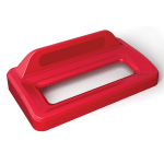 Rubbermaid 2031823 Rectangle Recycling Lid for 16 & 23 gal Slim Jim® Recycling Containers - Plastic, Red