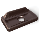 Rubbermaid 2031825 Rectangle Recycling Lid for 16 & 23-gal Slim Jim® Recycling Containers - Plastic, Brown