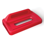 Rubbermaid 2031827 Rectangle Recycling Lid for 16 & 23-gal Slim Jim® Recycling Containers - Plastic, Red