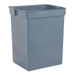 Rubbermaid FG256K00GRAY 42 gal Square Rigid Trash Can Liner, Plastic - Gray