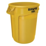 Rubbermaid FG263200YEL 32-gallon Brute Trash Can - Plastic, Round, Food Rated