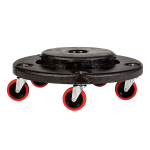 Rubbermaid FG264043BLA Round Plastic Trash Can Dolly w/ Raised Center & 350-lb Capacity