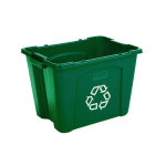 Rubbermaid FG571473GRN 14-gal Multiple Material Recycle Bin - Indoor