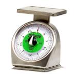 Rubbermaid FG605SRWQ Pelouze Portion Scale - Counter Model, Green Lens, 5-lb x 1/2-oz, Stainless