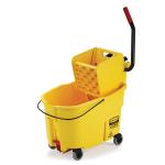 Rubbermaid FG618688YEL 44 qt WaveBrake Mopping System - Side Press, Foot Pedal, Yellow