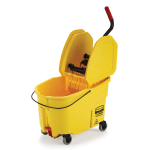 Rubbermaid FG757688YEL 44 qt WaveBrake Mopping System - Down Press, Foot Pedal, Yellow
