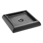 Rubbermaid FG917700BLA Ranger Container Weighted Base Accessory - Black