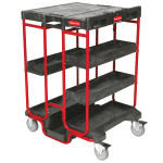 Rubbermaid FG9T5700BLA Ladder Cart w/ 500-lb Capacity, Black