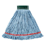 "Rubbermaid FGA25206BL00 Web Foot Wet Mop - Looped-End, 5"" Headband, 4 Ply Cotton/Synthetic, Blue"