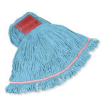 "Rubbermaid FGC15306BL00 Large Swinger Loop Wet Mop - 5"" Headband, 4-Ply Cotton/Synthetic, Blue"