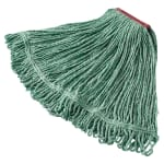 "Rubbermaid FGD21306GR00 Large Super Stitch Mop Head - 4 Ply Cotton/Synthetic, 1"" Headband, Green"
