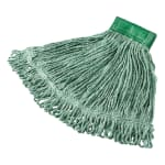 "Rubbermaid FGD25206GR00 Medium Super Stitch Mop Head - 4 Ply Cotton/Synthetic, 5"" Headband, Green"