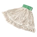 "Rubbermaid FGD25206WH00 Medium Super Stitch Mop Head - 4-Ply Cotton/Synthetic, 5"" Headband, White"