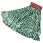"Rubbermaid FGD25306GR00 Large Super Stitch Mop Head - 4-Ply Cotton/Synthetic, 5"" Headband, Green"