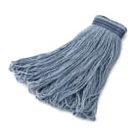 Rubbermaid FGE23900BL00 32-oz Mop Head - Universal Headband, Looped End, Cotton/Synthetic, Blue