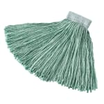 "Rubbermaid FGF13600GR00 16-oz Mop Head - 5"" Headband, Synthetic Yarn, Green"