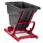 Rubbermaid FG106400 BLA 1.5-cu yd Trash Cart w/ 1000-lb Capacity, Black