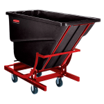 Rubbermaid FG107443 BLA 2.5-cu yd Trash Cart w/ 1000-lb Capacity, Black