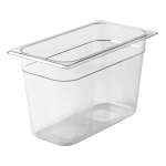 "Rubbermaid FG119P00CLR Cold Food Pan - 1/3 Size, 8"" Deep, Non-Stick, Clear"