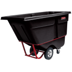 Rubbermaid FG130500BLA .5 cu yd Trash Cart w/ 850 lb Capacity, Black