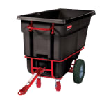 Rubbermaid FG130641 BLA .5-cu yd Trash Cart w/ 1400-lb Capacity, Black