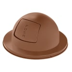 Rubbermaid FG2030BR Round Dome Trash Can Lid - Metal, Brown