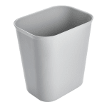 Rubbermaid FG254100GRAY 14-qt Rectangle Waste Basket - Plastic, Gray