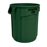 Rubbermaid FG262000DGRN 20-gallon Brute Trash Can - Plastic, Round, Food Rated